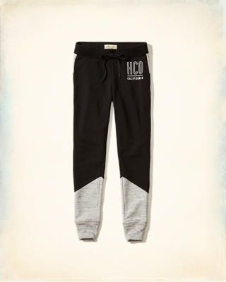 Hollister Colorblock Graphic Fleece Leggings
