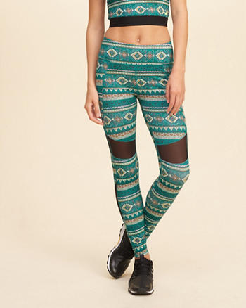 Hollister Cali Sport Mesh Panel Leggings