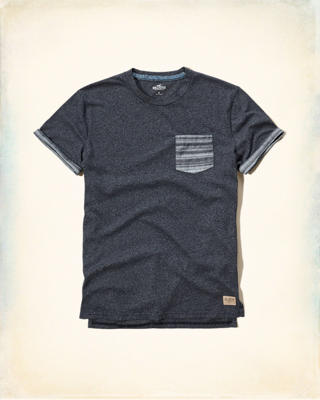 Textured Contrast Pocket T-Shirt