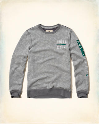 Textured Logo Graphic Sweatshirt