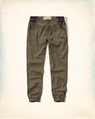 Hollister Low-Rise Twill Joggers