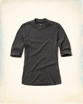Must-Have Mock Neck T-Shirt