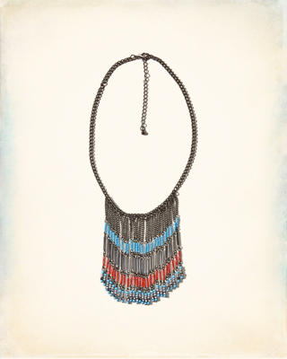 Colorful Fringe Statement Necklace