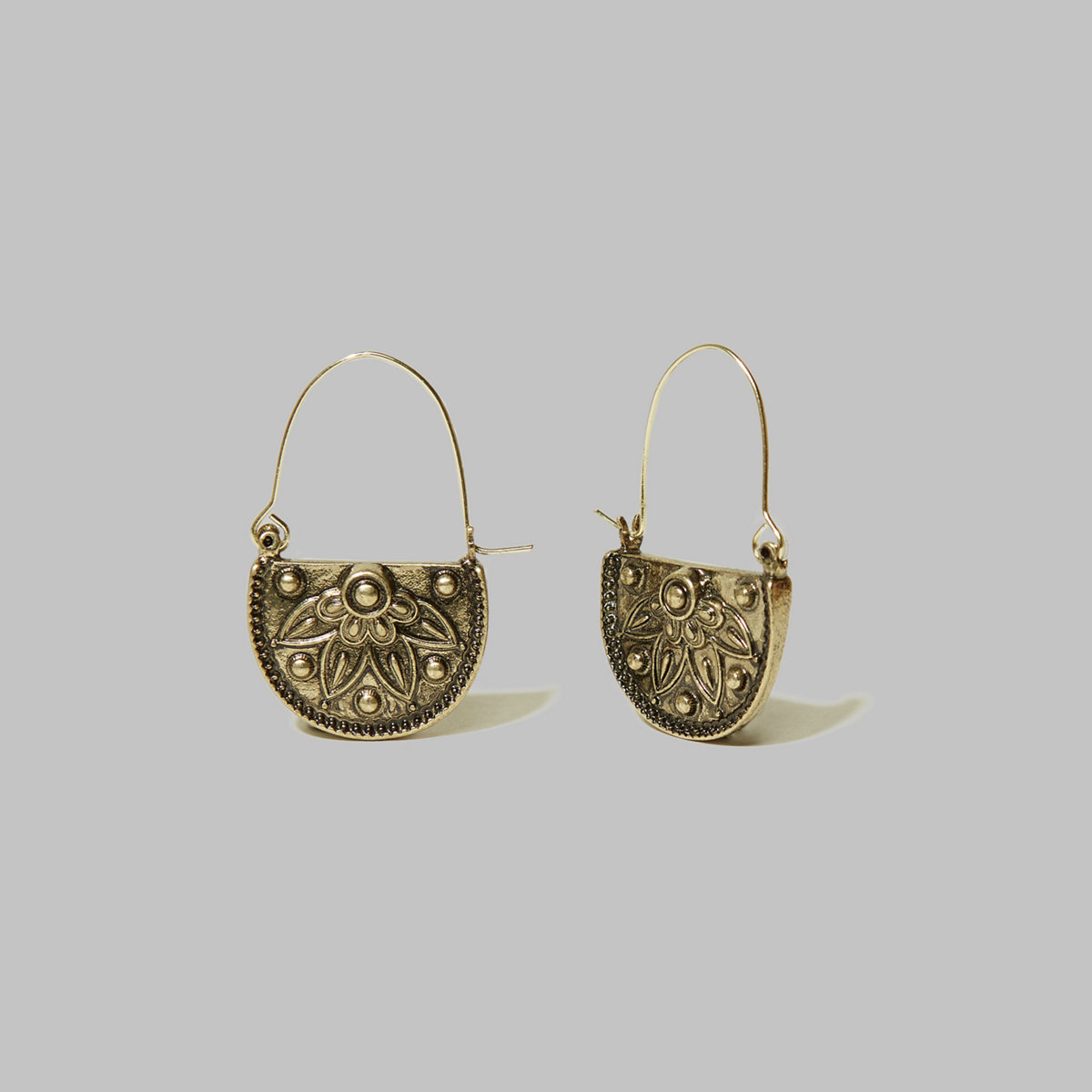 Etched Floral Earrings