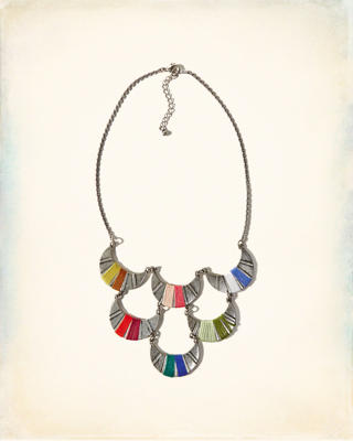 Colorful Tiered Statement Necklace