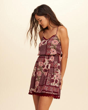 Printed Chiffon Easy Waist Dress