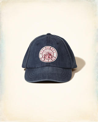 Patch Denim Baseball Cap