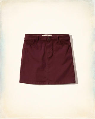 5 Pocket Zipper Fly Skirt
