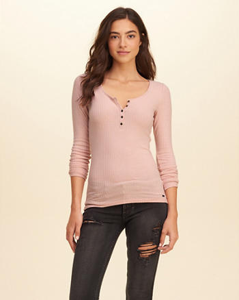 Slim Ribbed Henley