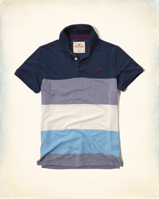 Textured Stripe Pique Polo