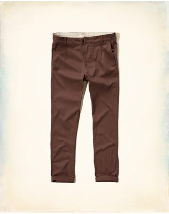 hol Hollister Skinny Pleated Zipper Fly Chinos