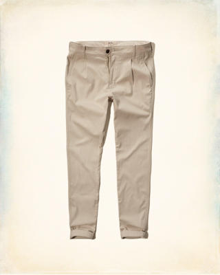 Hollister Skinny Pleated Zipper Fly Chinos