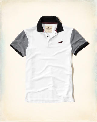 Textured Colorblock Pique Polo
