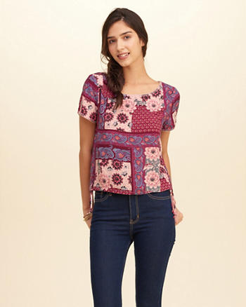 Side-Tie Rayon Top
