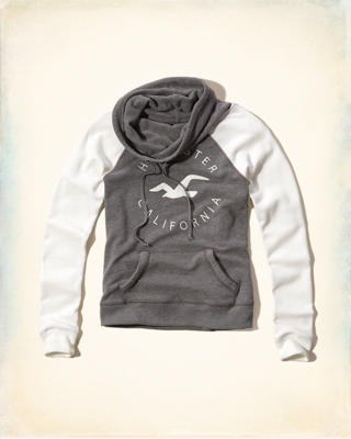 Cowl Neck Logo Graphic Sweatshirt