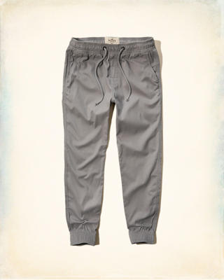 Hollister Pull-On Twill Jogger Pants