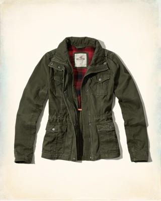 Waisted Military Shirt Jacket