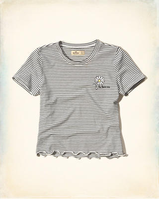Cropped Graphic Baby Tee