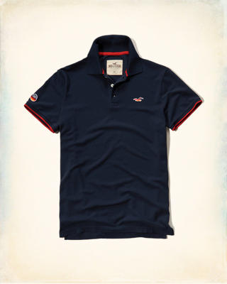 Patch Tipped Pique Polo
