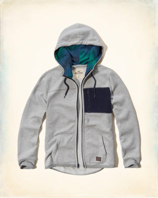 Thermal Fleece Pocket Hoodie