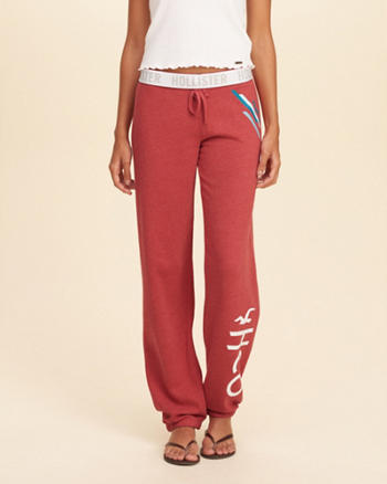 Hollister Graphic Banded Boyfriend Sweatpants