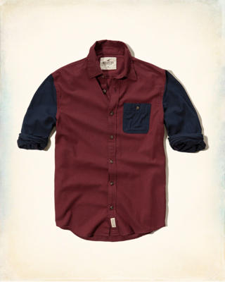 Colorblock Flannel Shirt