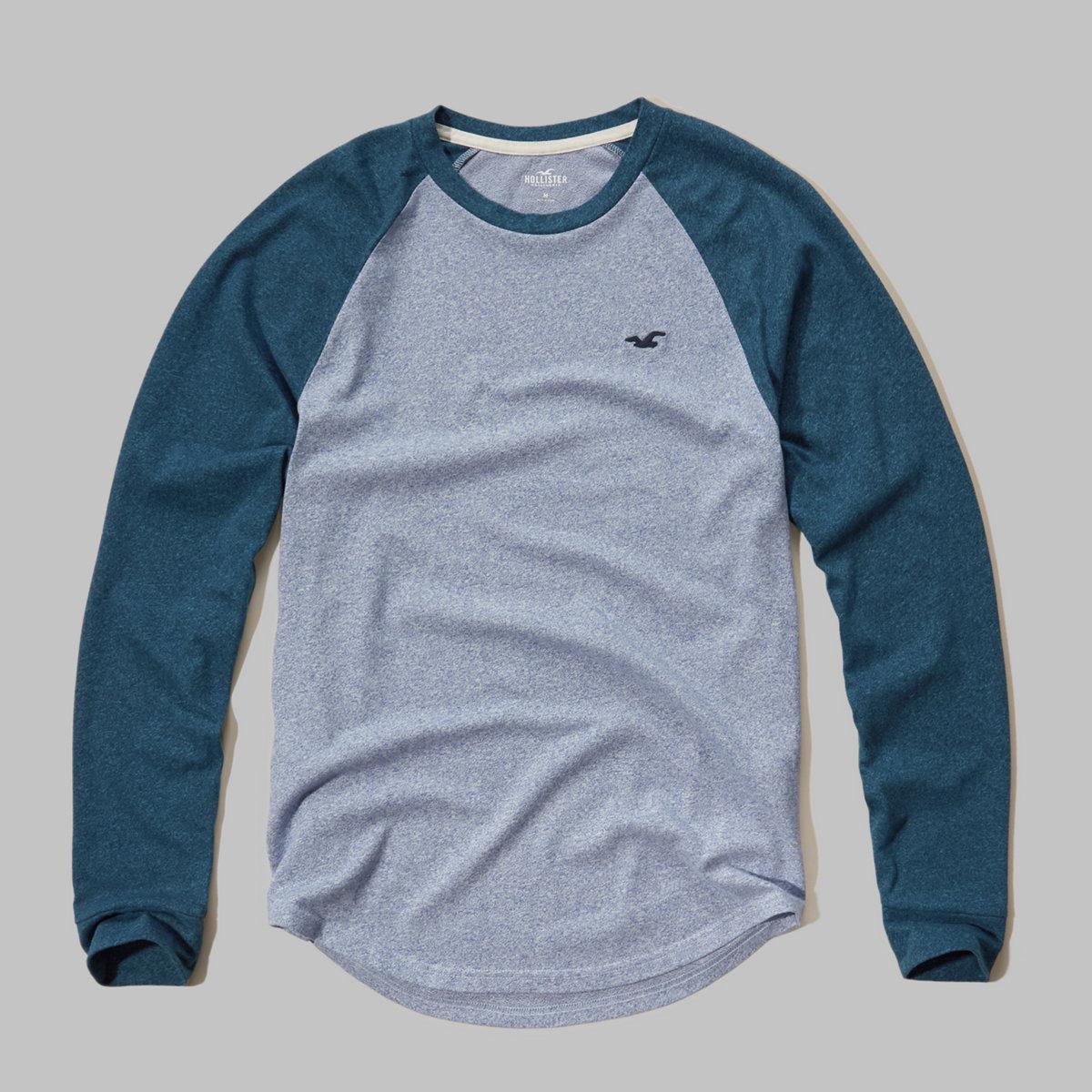 Textured Colorblock Raglan T-Shirt