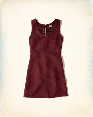 Vegan Suede Lace-Up Dress