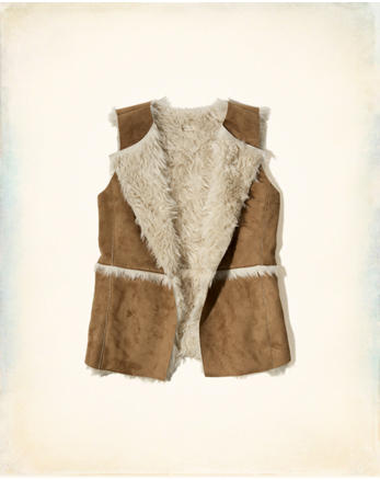 hol Shearling Suede Vest
