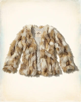 Jacquard Faux Fur Jacket