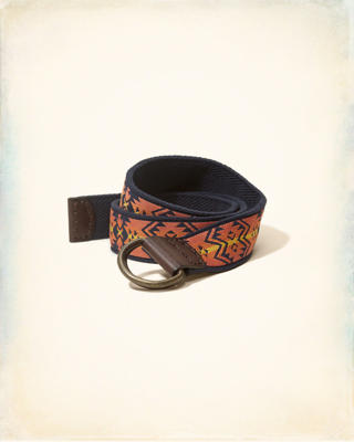 Patterned Fabric Belt