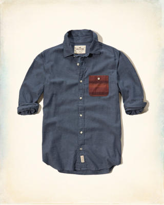 Patterned Pocket Brushed Cotton Shirt