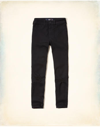 hol Hollister High Rise Crop Jeans