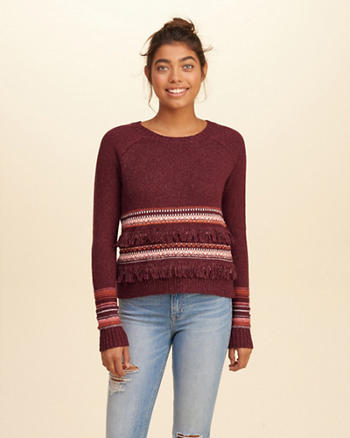 Fringe Crew Sweater