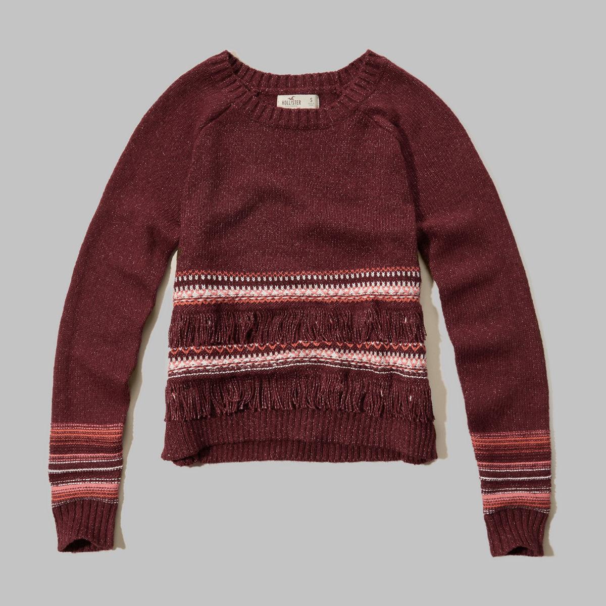 Fringe Crew Sweater