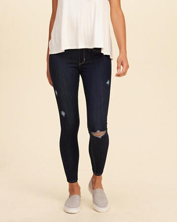 Low-Rise Crop Jean Leggings