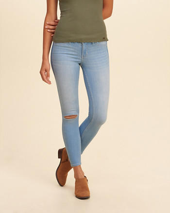 Hollister Low-Rise Crop Jean Leggings