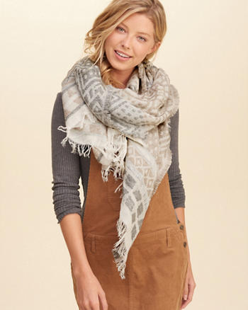 Patterned Jacquard Scarf