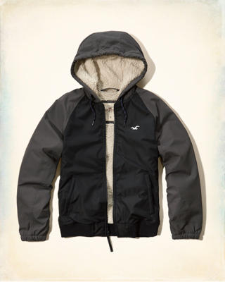 Hollister All-Weather Sherpa Lined Hoodie