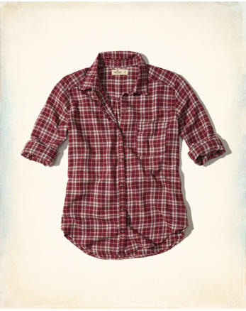 hol Button-Front Flannel Shirt