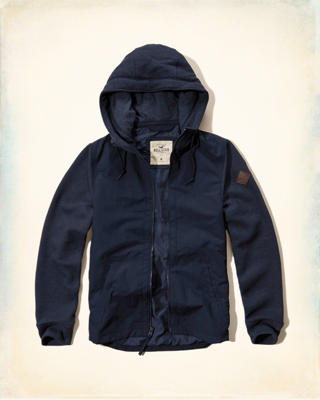 Hooded Twofer Jacket