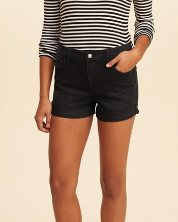 High Rise Denim Short Shorts