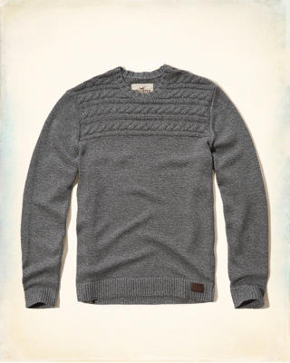 Crew Cable Sweater