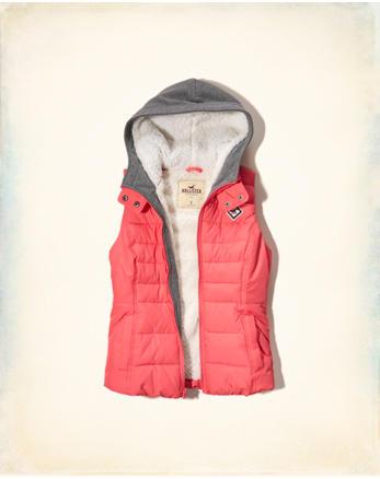 hol Sherpa Lined Twofer Puffer Vest