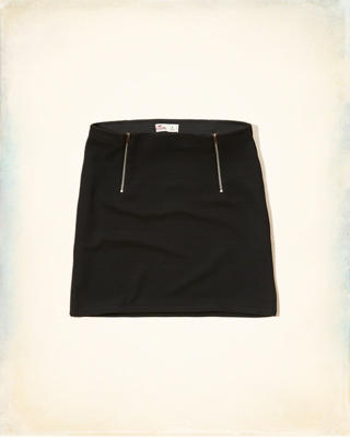 Zip Jacquard Bodycon Skirt