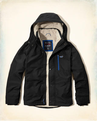 Hollister All-Weather Sherpa Lined Jacket