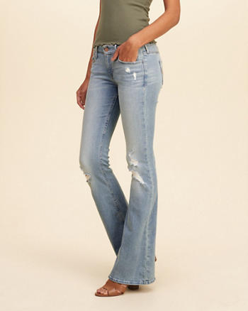 Hollister Low-Rise Flare Jeans