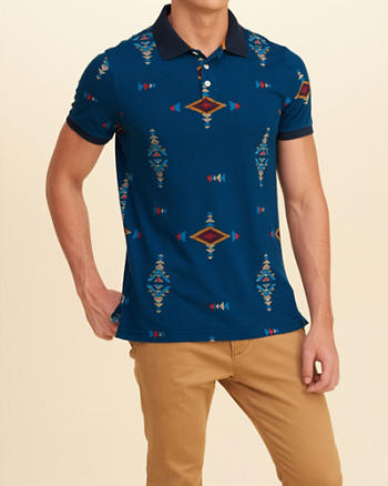 Patterned Slim Polo