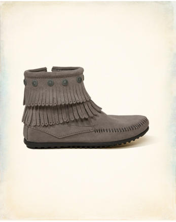 hol Minnetonka Double Fringe Side Zip Boot