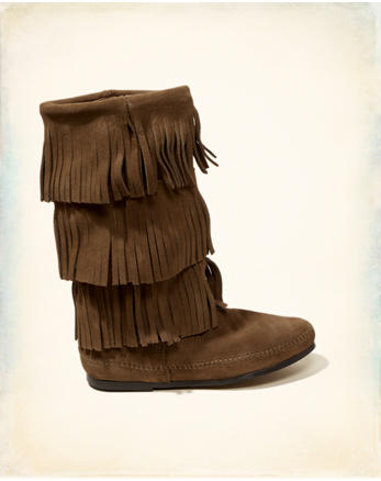 hol Minnetonka 3-Layer Fringe Boot
